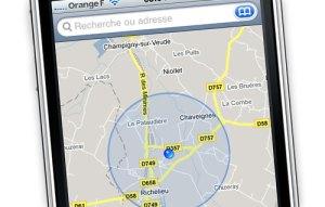 iphone localisation gps